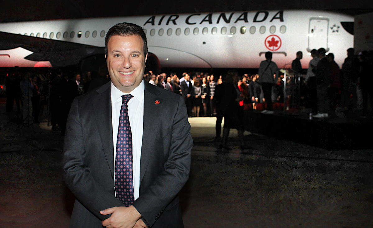 """This aircraft gives Air Canada tremendous versatility,"" Mark Galardo, vice-president of network planning at Air Canada, told PAX."