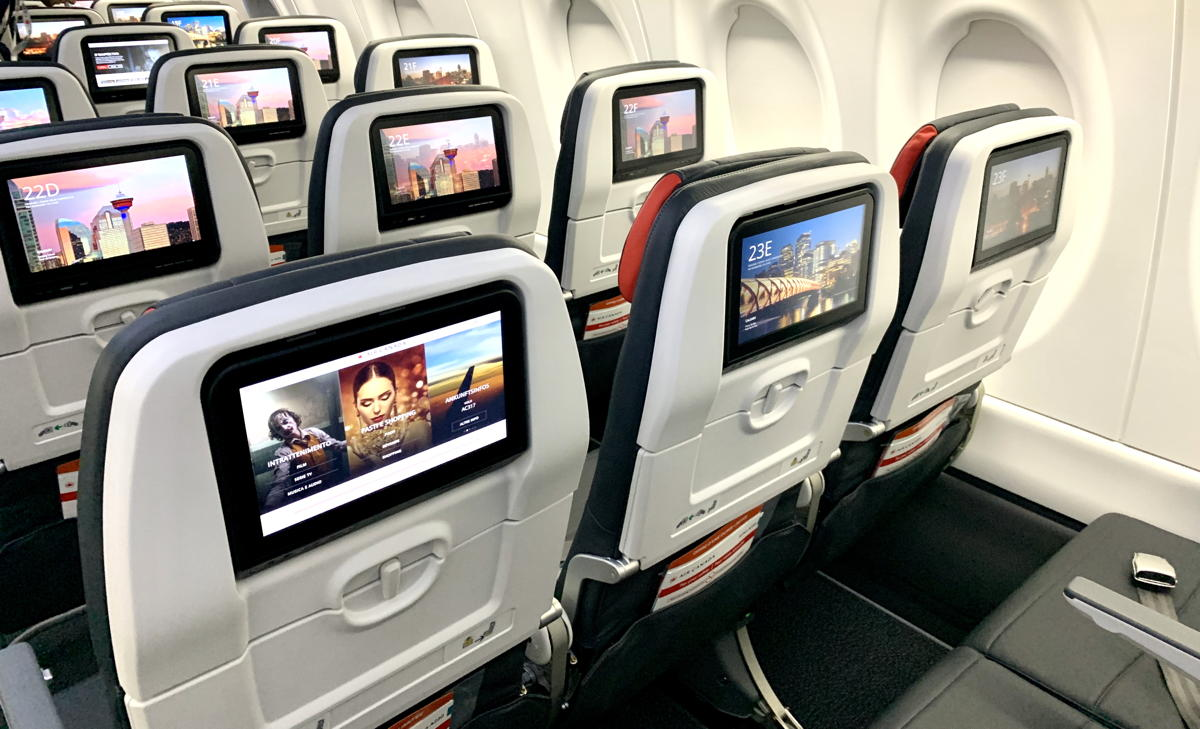 MOVIE TIME. The A220's 12-inch Panasonic entertainment system offers more than 1,000 hours of content.