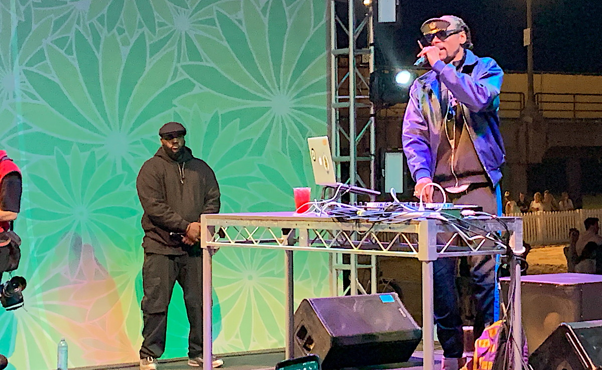 GIN AND JUICE. Rapper Snoop Dogg performed a surprise DJ set at Visit California's IPW party in Huntington Beach.