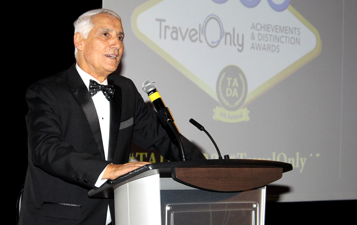 Patrick Luciani, founder and chairman of TravelOnly, photographed at TravelOnly's TADA Awards in January. (Pax Global Media)