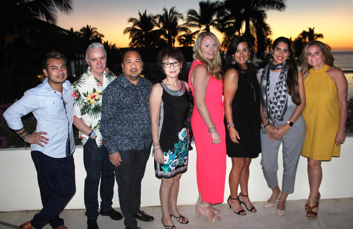 From left: Nelson Martinez, Ray Surette, Paul Chin-Aleong, Penny Ho, Anie Chevrier, Sophie Raymond, Gina Jimenez Barbara Scrocco at Grand Velas Riveria Nayarit.
