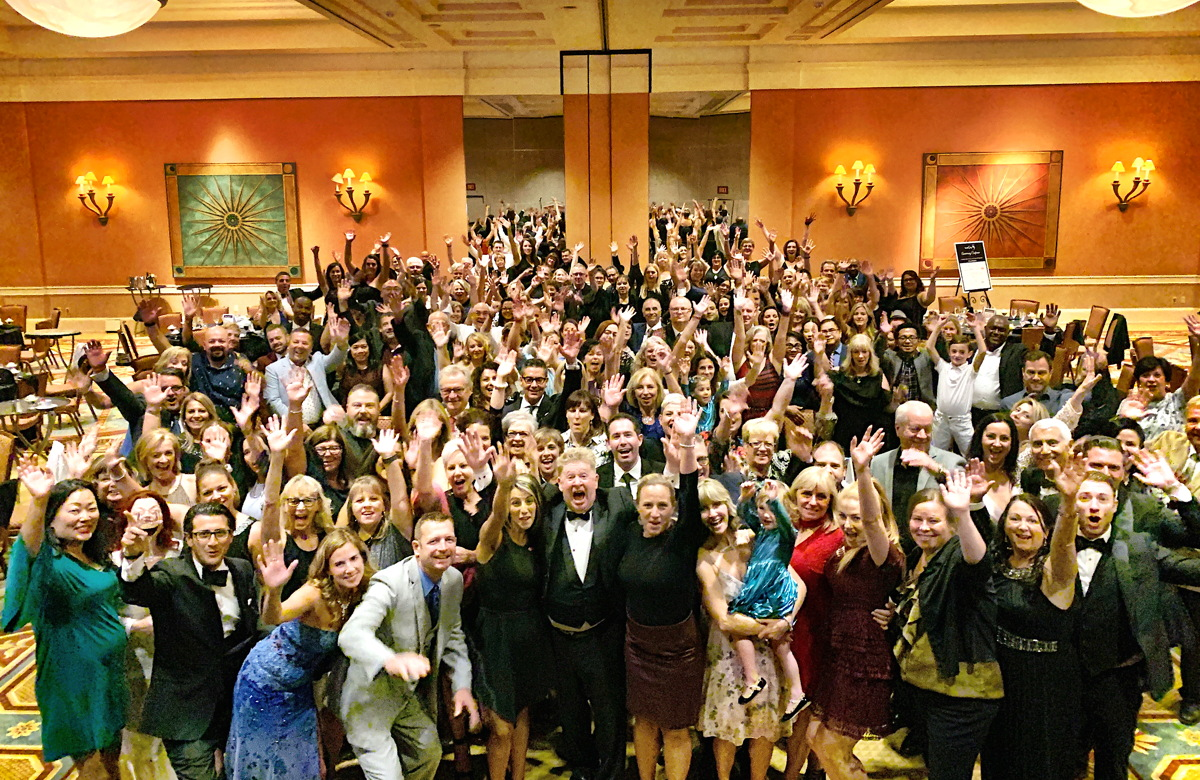 SAY CHEESE. TravelOnly's founders, head office staff, associates & supplier partners celebrate the host agency's 45th anniversary at Caesars Palace Hotel & Casino in Las Vegas.