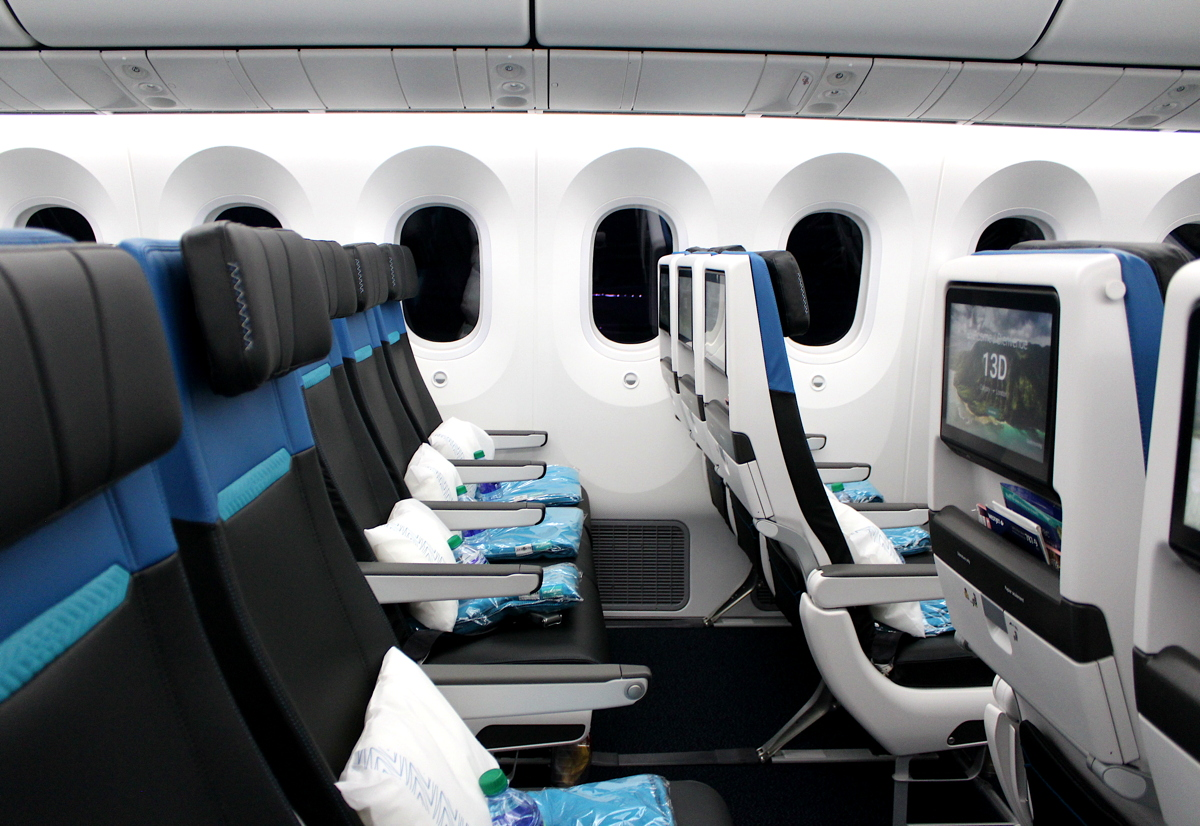 THE NEW ECONOMY. Inside WestJet's Economy Cabin on board its new 787-9 Dreamliner.