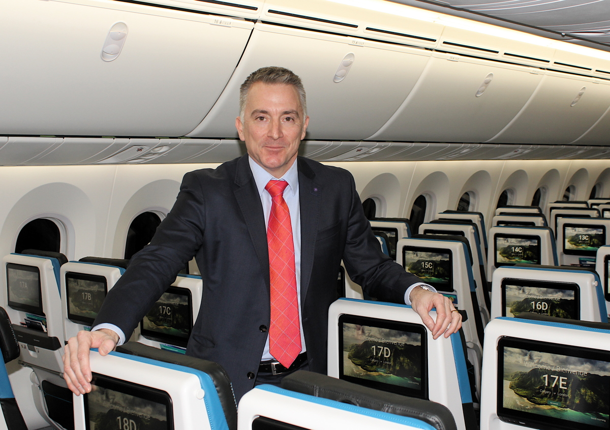 """We have literally re-thought our product,"" said Louis Saint-Cyr, WestJet's vice president of guest experience and in-flight operations."