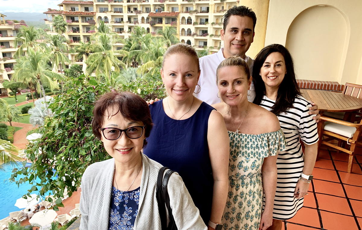 From left: advisors Penny Ho, Anie Chevrier & Barbara Scrocco; Velas' Resorts' Francisco Renteria & Sophie Raymond.