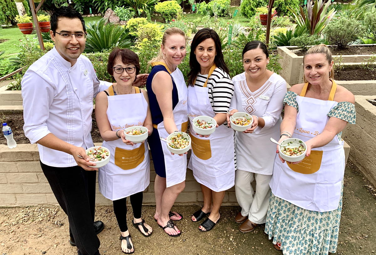 From left: Chef Issac Esparza Rodriguez, Penny Ho,  Anie Chevrier, Sophie Raymond, Iveth Heredia, Barbara Scrocco.