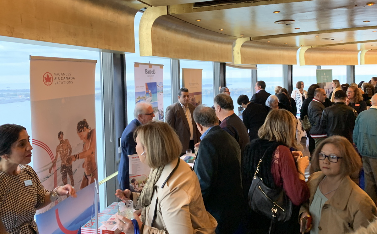Travel agents meet with reps from Cuba and Canada-based hotels and tour operators at Toula restaurant at Toronto's Westin Harbour Castle hotel.