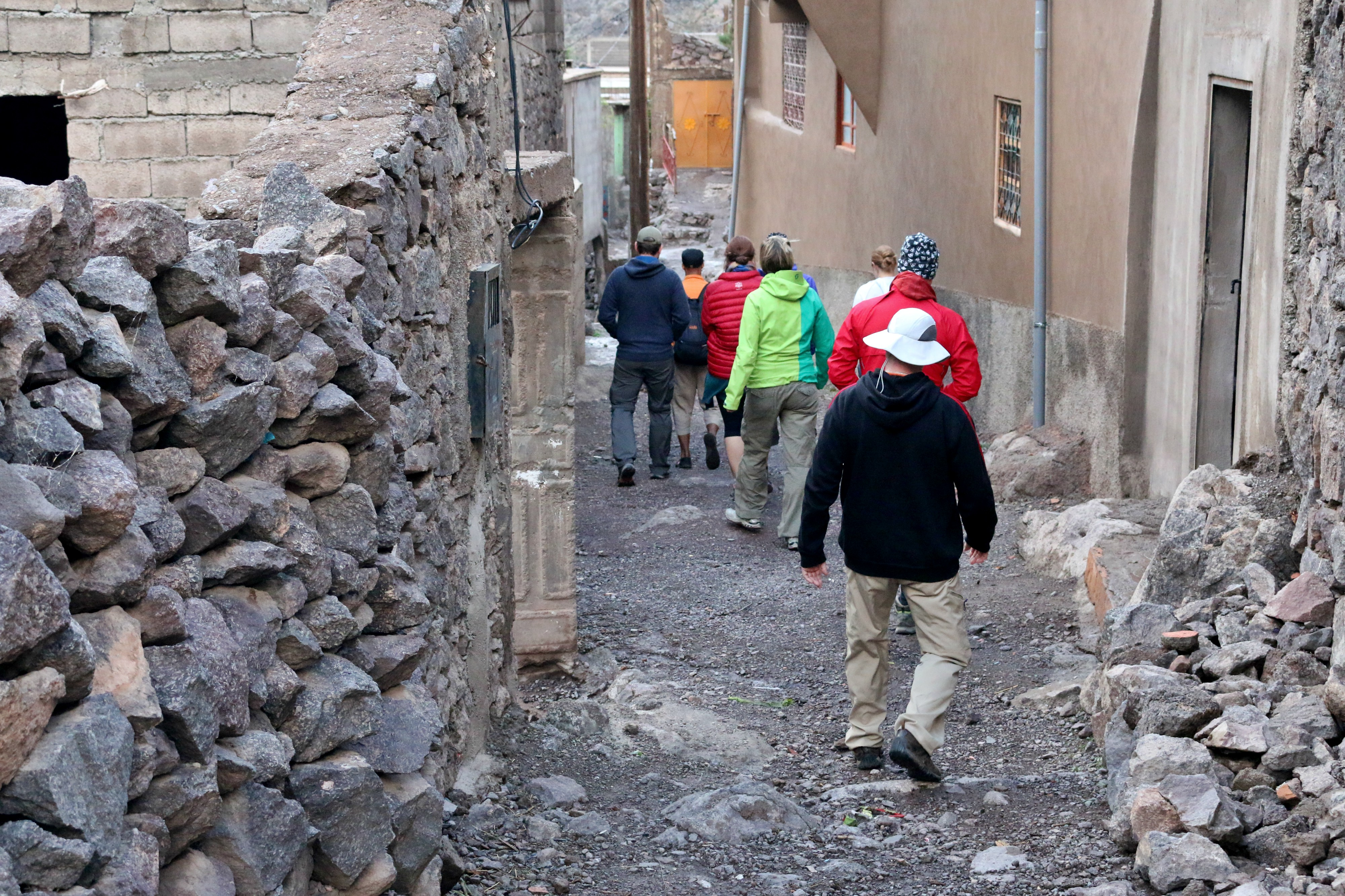 Making our way through a Berber village in Aroumd for the night. Photo: Christine Hogg for PAX Global Media