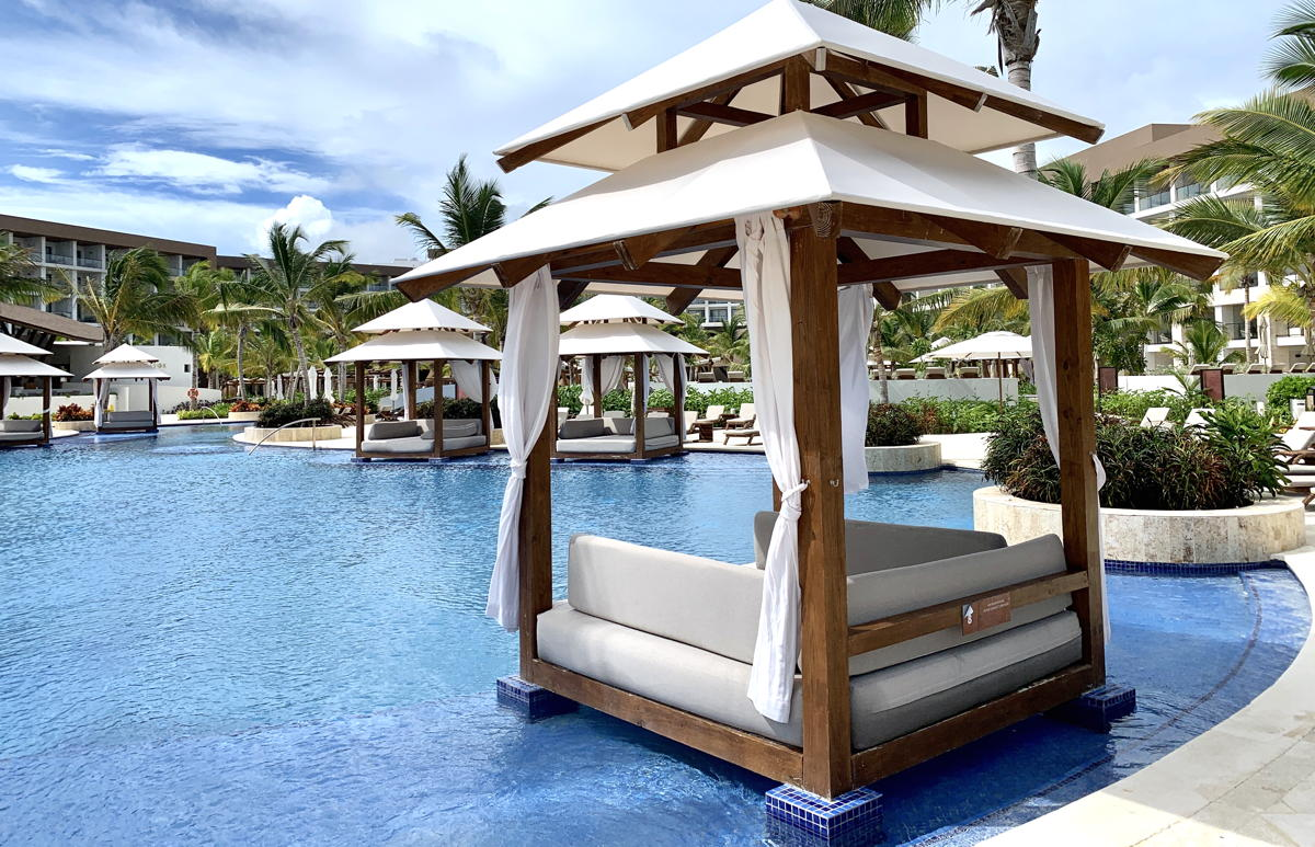 Poolside at Hyatt Ziva Cap Cana in Dominican Republic.