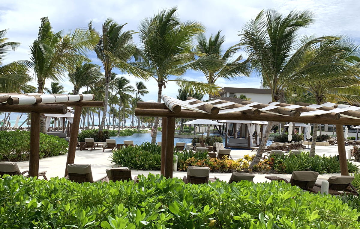 View from The Chinola Dining Room at Hyatt Ziva Cap Cana.