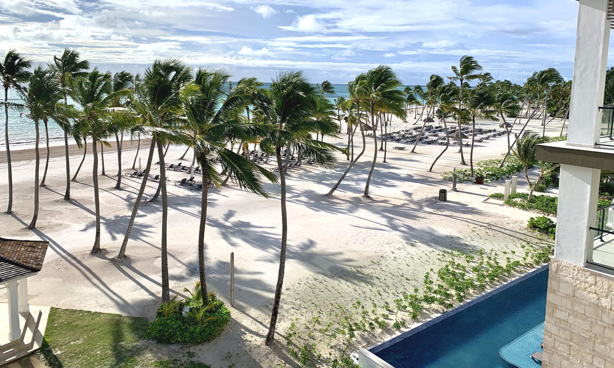 Oceanview from Hyatt Ziva in Cap Cana, Dominican Republic.