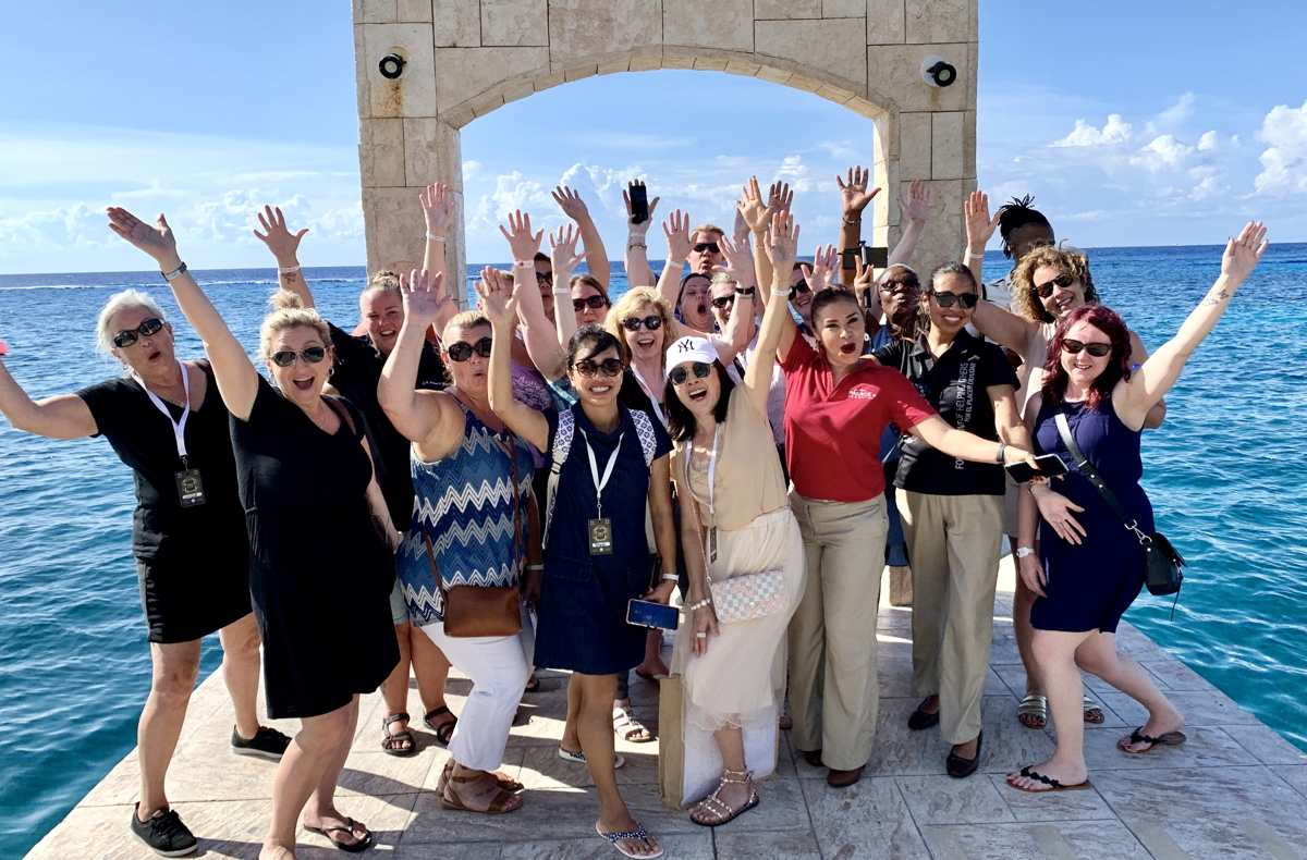 PICTURE PERFECT. Travel agents toured Cozumel Palace in Cozumel as part of their site inspections.