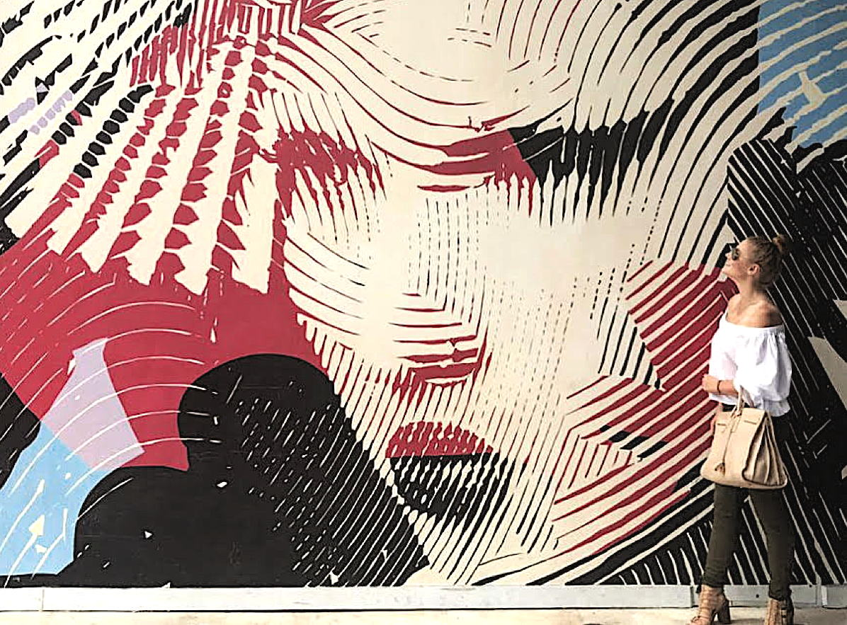 Sarah Smith enjoys Wynwood Walls in Miami, Florida. Photo courtesy of Sarah Smith.