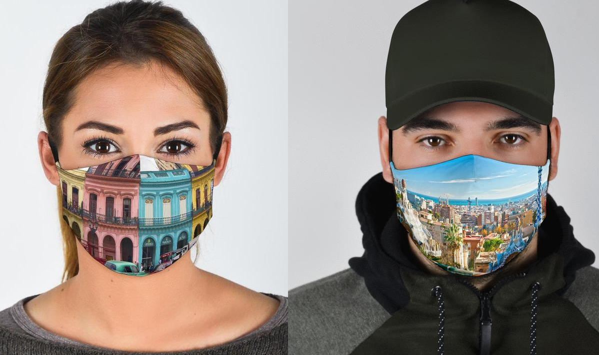 Keith's collection of two, three, and seven-layer face masks suit all travel tastes and personalities. (caspermasks.com)