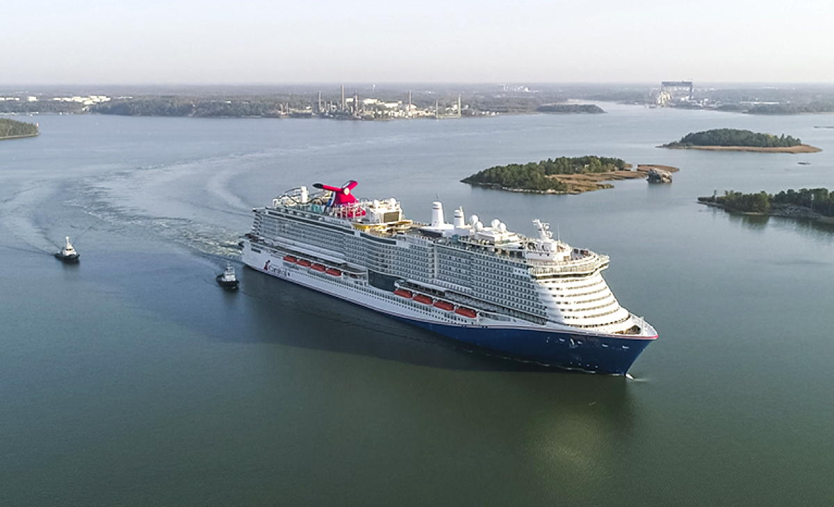 Carnival Cruise Line took delivery of its new ship, Mardi Gras, on Dec. 18. (Supplied)