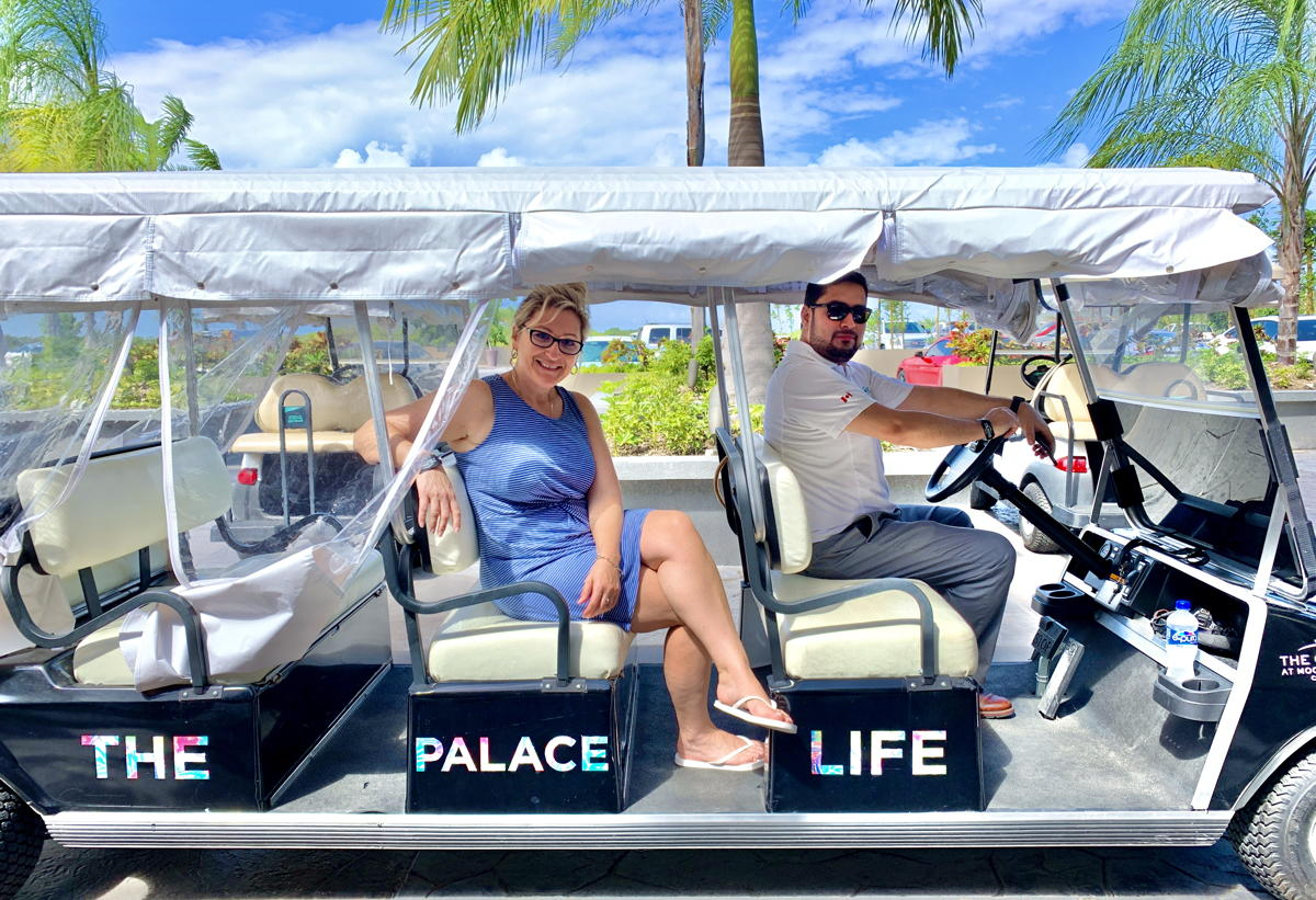 STEERING SUCCESS. From left (of Palace Resorts): Diana Winters, BDM for Ontario; Juan Carlos Calderon, corporate director of sales in Canada.