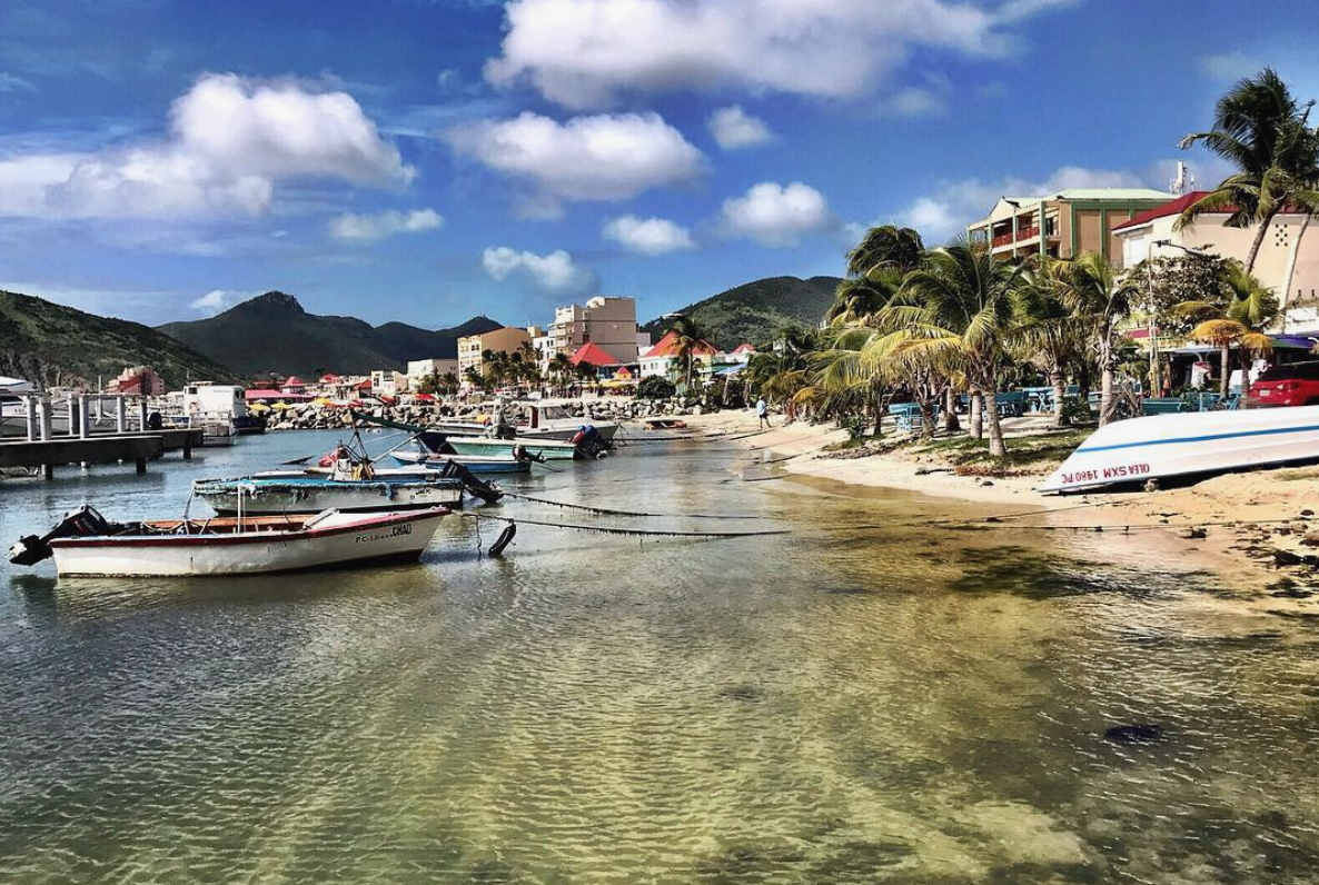 Despite widespread damage from Hurricane Irma, St. Maarten, photographed here last November, still reached its two millionth passenger for 2018