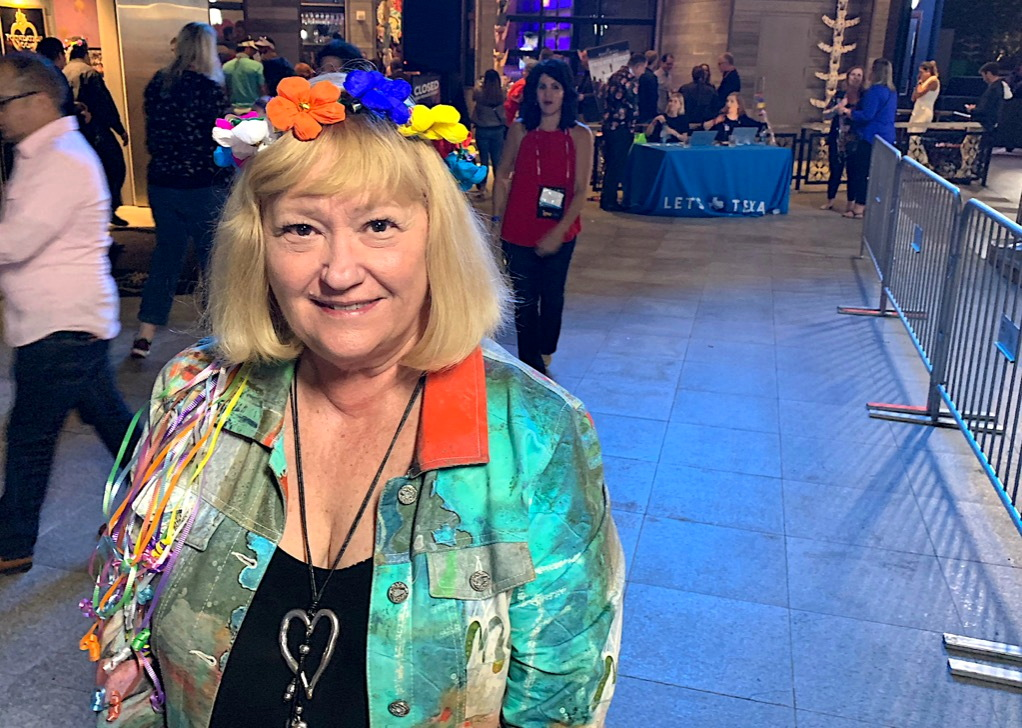 """The Canadian delegation at IPW is one of the most respected and fun delegations,"" said Susan Webb of VoX International & Discover America Canada, seen here at IPW's Texas party."