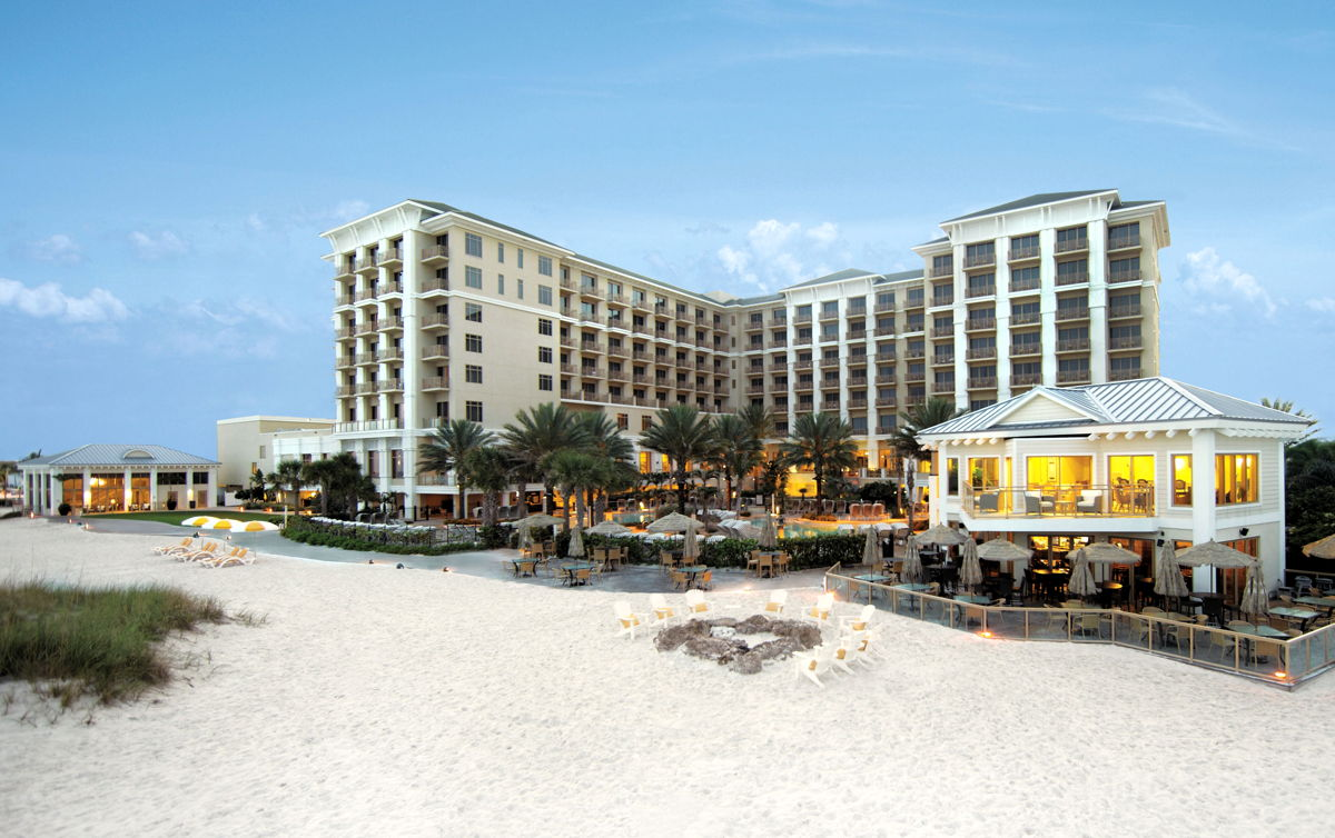 Sandpearl Resort is home to Clearwater Beach's only Four-Diamond restaurant Caretta on the Gulf. (Supplied)