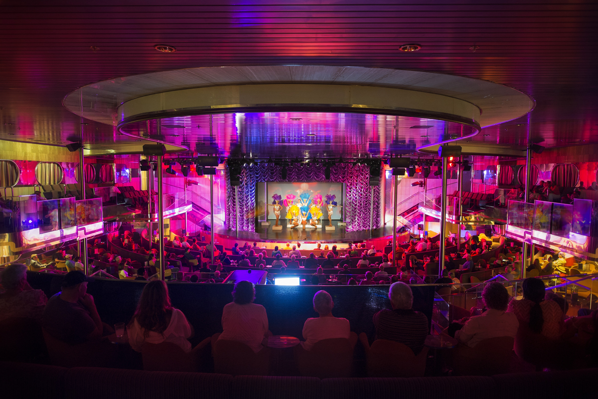 The theatre aboard the Grand Celebration is one of several big-ship amenities offered with a small-ship feel (photo courtesy of Bahamas Paradise Cruise Line)