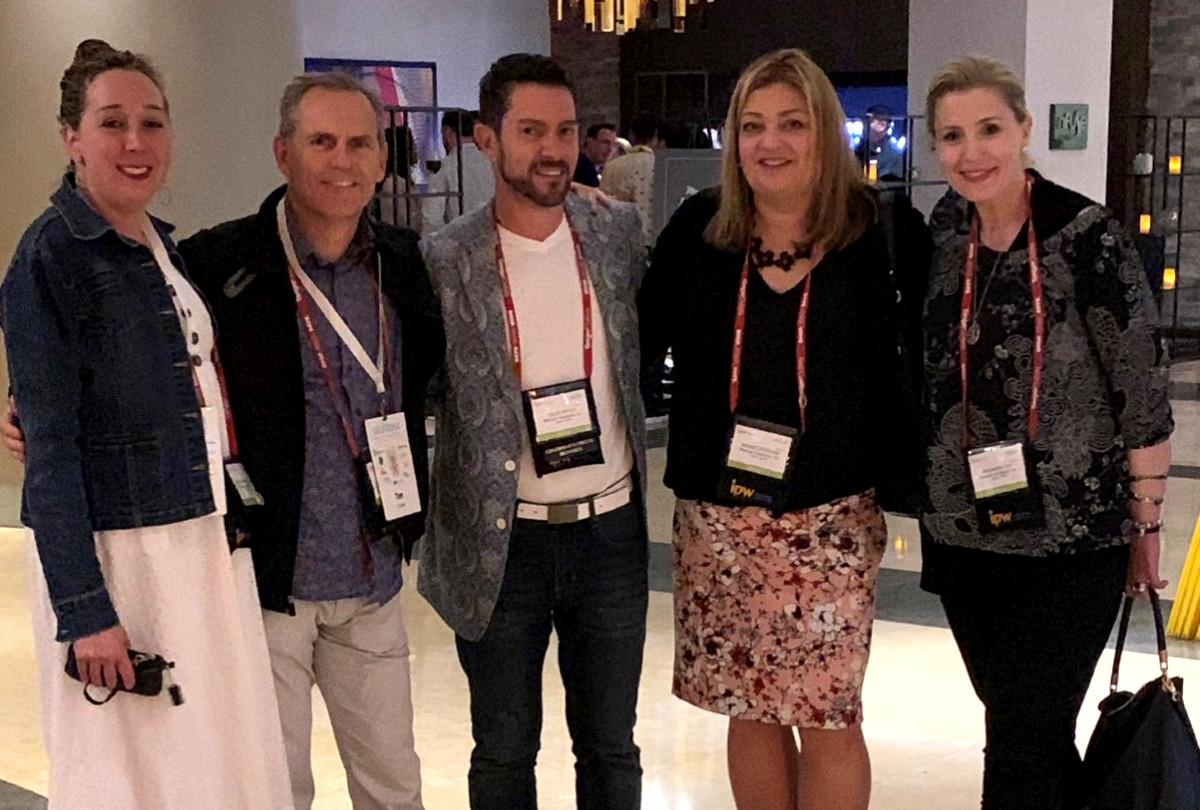 From left (of WestJet & WestJet Vacations): Madeleine Brydon, Tim Croyle, Dave Cecco, Denise Sterling and Bronwen Ray. Photo: Denise Sterling