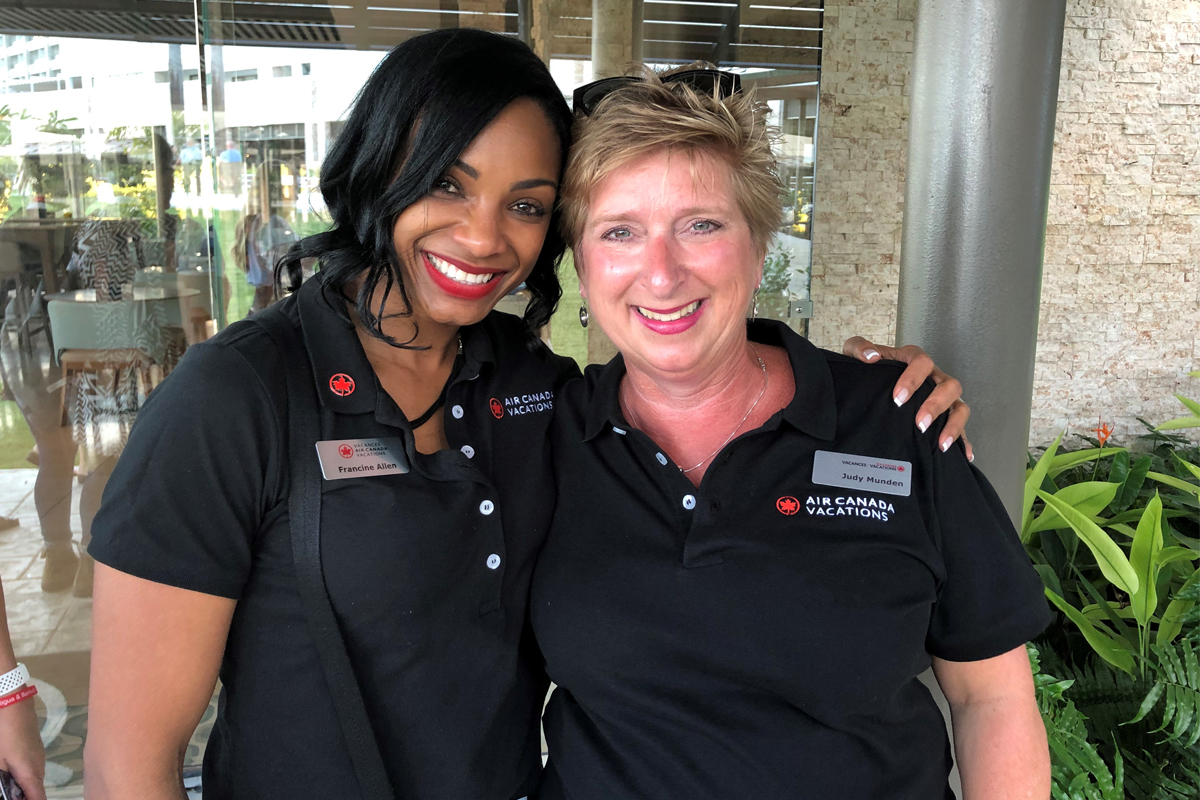 Ask questions! Your area sales manager is here to help. Pictured: Francine Allen and Judy Munden of ACV.
