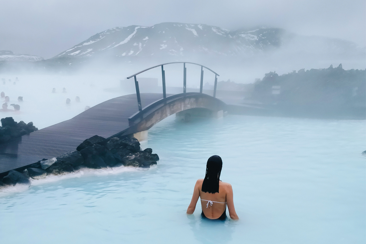 The famous Blue Lagoon in Iceland provides day passes for tourists that include a towel and slippers for the showers and locker room.