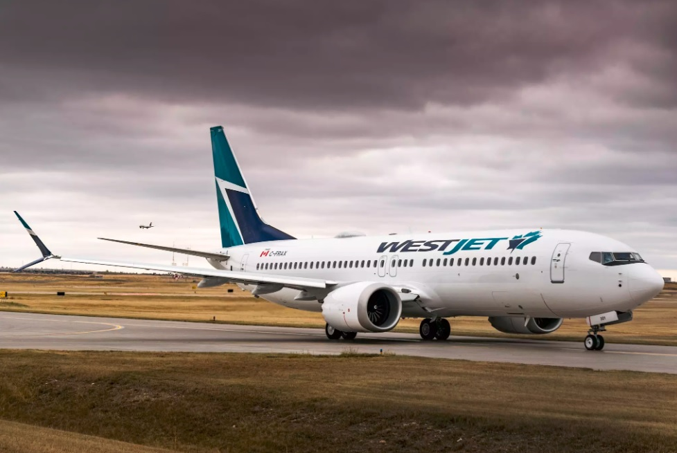 WestJet, with 13 of the 737 MAX 8 aircraft, is also sticking with the aircraft once Transport Canada reverses the decision to ground them. Pictured: WestJet's Boeing 737 MAX 8