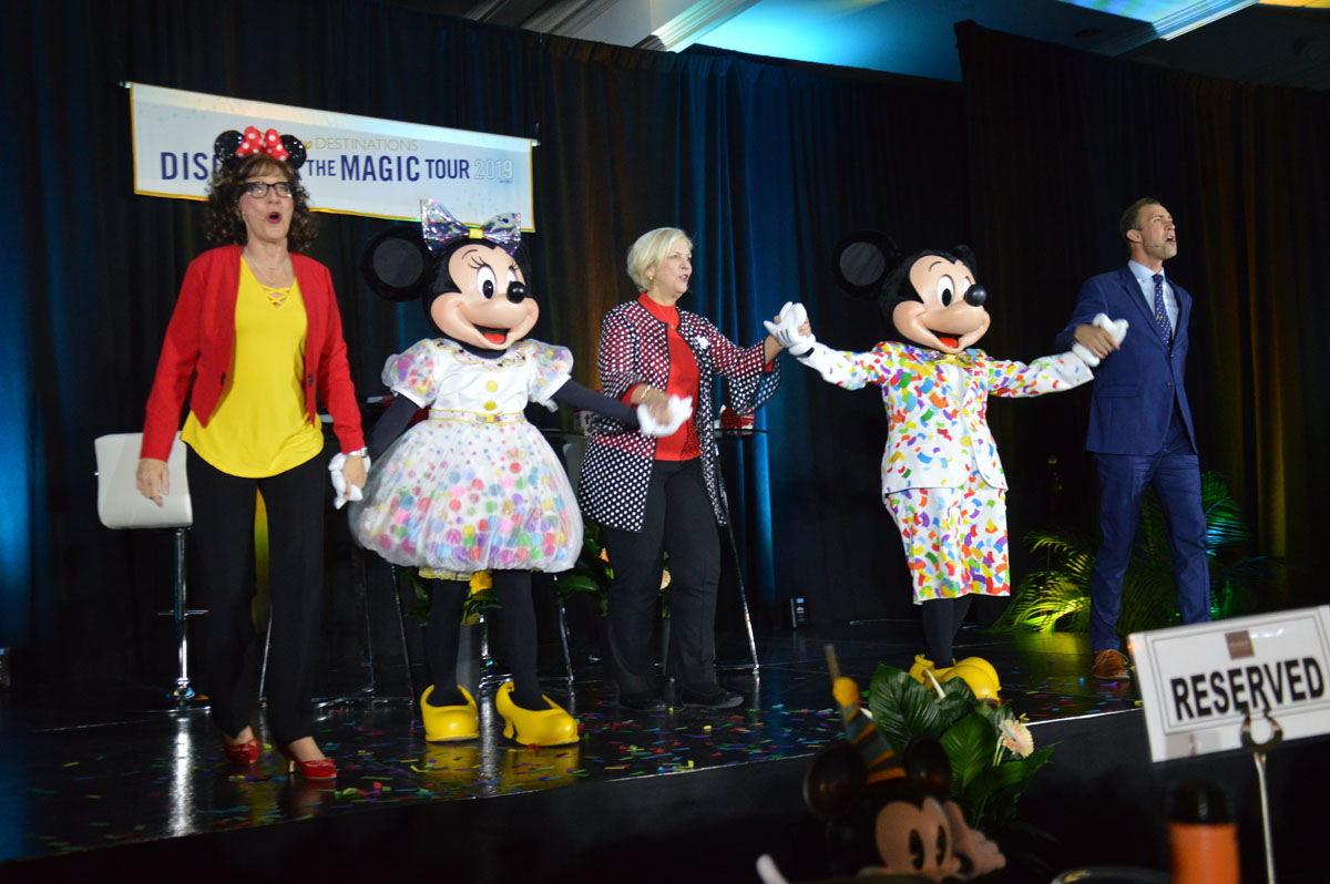 The grand finale: Mickey & Minnie took to the stage, in recognition of their 90th birthdays this year.