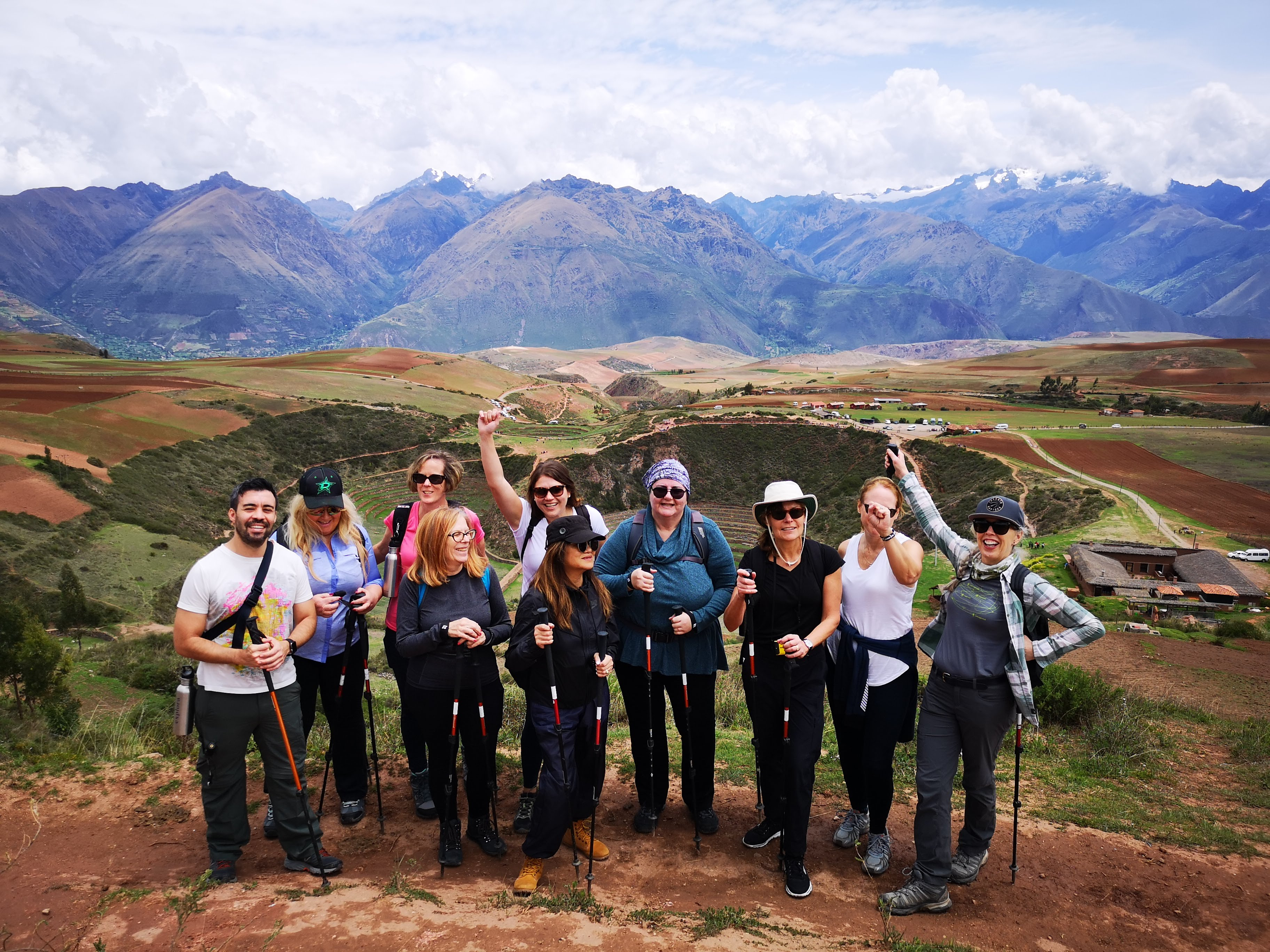 Escorting a group of Vision travel agents in Peru (photo courtesy of Dallyce Macas)