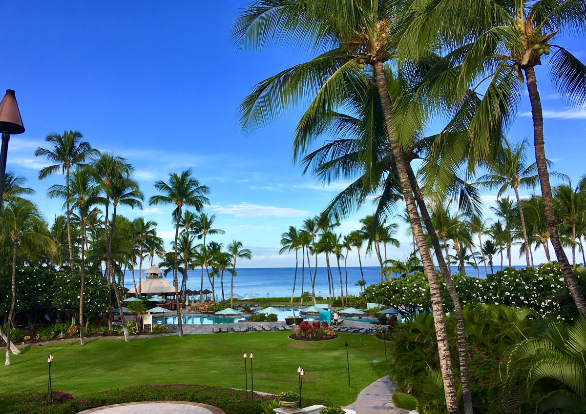 Most of the big resorts, like the Fairmont Orchid, are on the dry, western portion of the Big Island. Photo by Gordon Bowness.