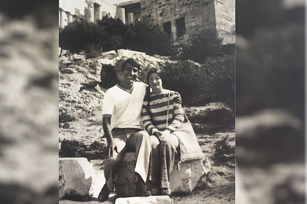 THROWBACK. Patrick and Ann Luciani in Greece on their honeymoon in 1971. Photo courtesy of the Luciani family.