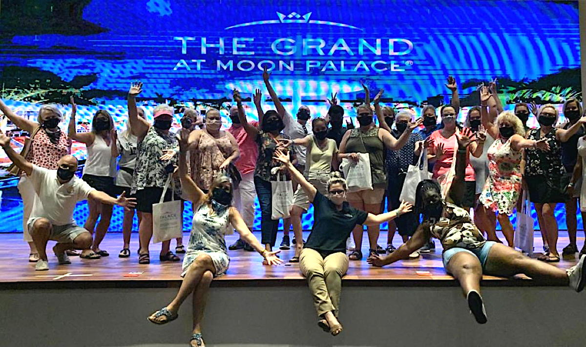 Travel agents experience The Grand at Moon Palace. (Supplied)