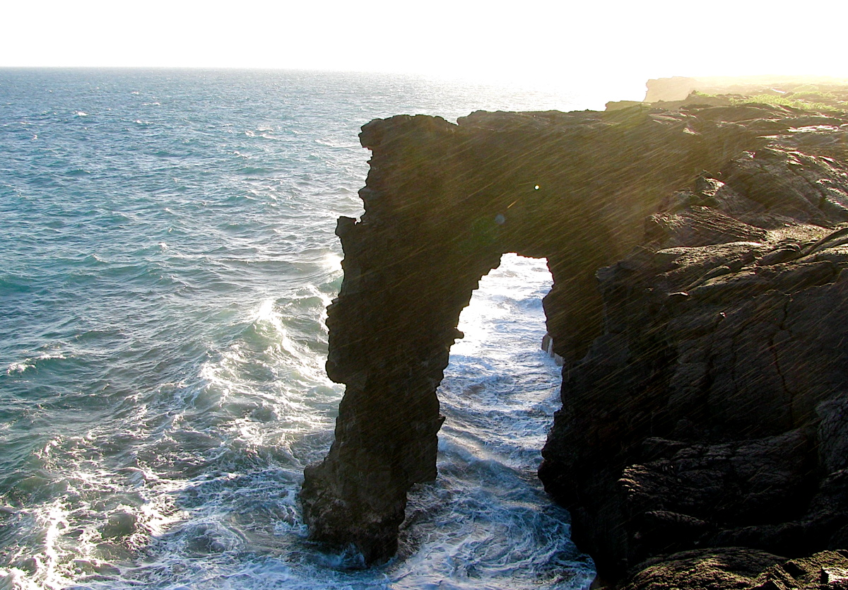 The Holei Sea Arch at the end of the Chain of Craters Road, is one of the many highlights of Volcanoes National Park. Photo: Gordon Bowness
