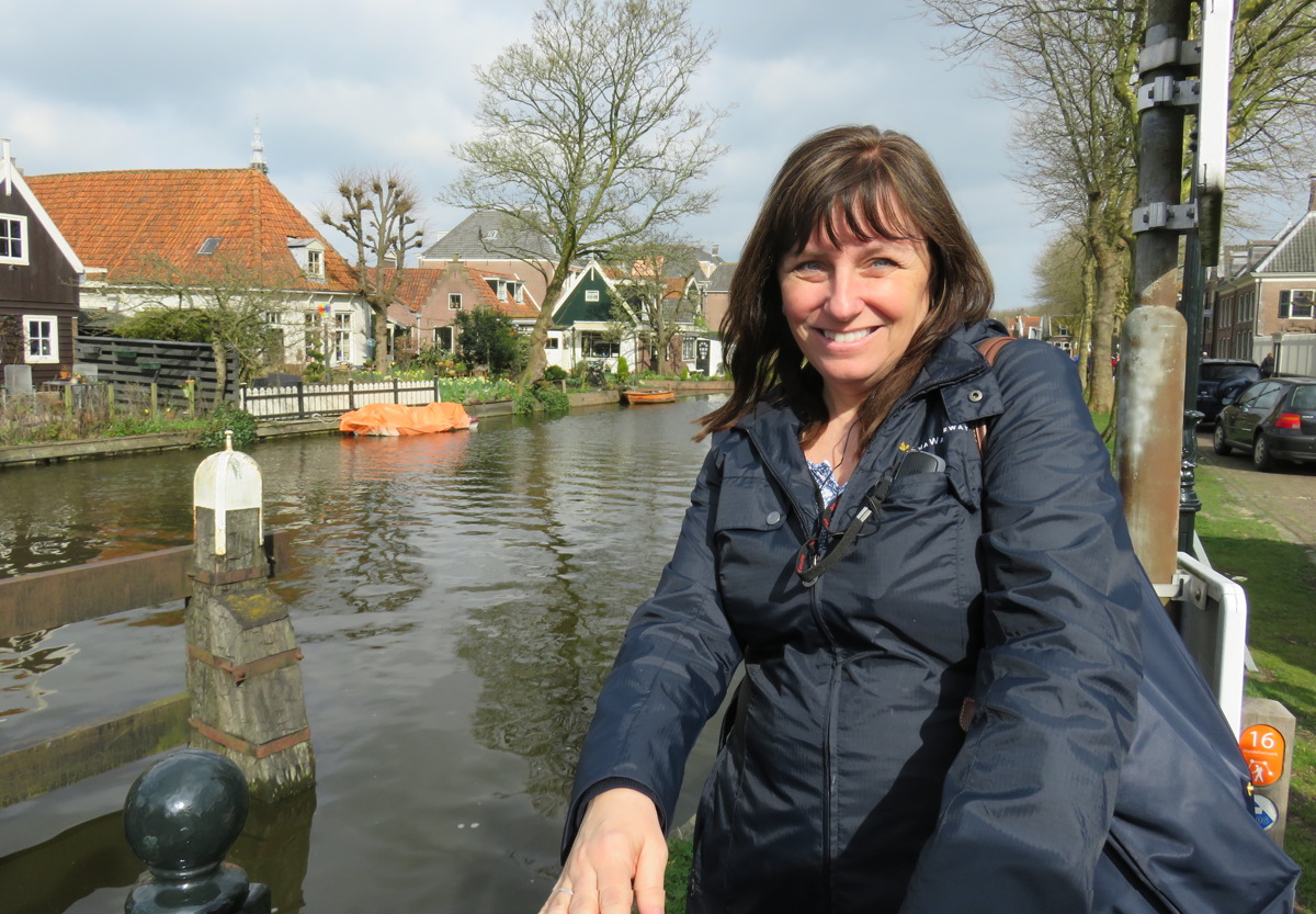 """I have been blessed to call this industry a second family,"" says Sandra Gardiner, seen here in Volendam while on a Tulip Time cruise. Photo courtesy of Sandra Gardiner."