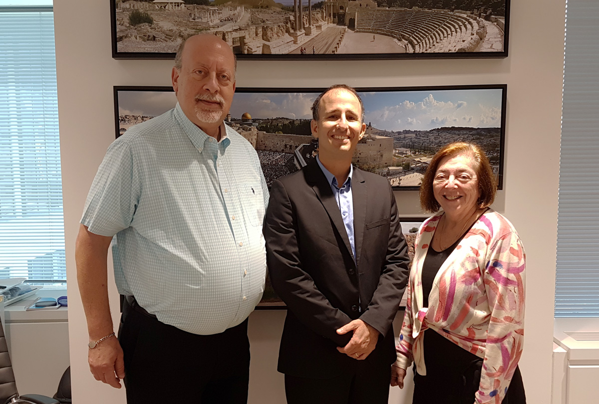 Of Israel Ministry of Tourism: (from left) Jerry Adler, deputy director and director of PR & communications; Gal Hana, consul, director for Canada; Ellen Melman, director operations & marketing, travel industry, clergy & community liaison.