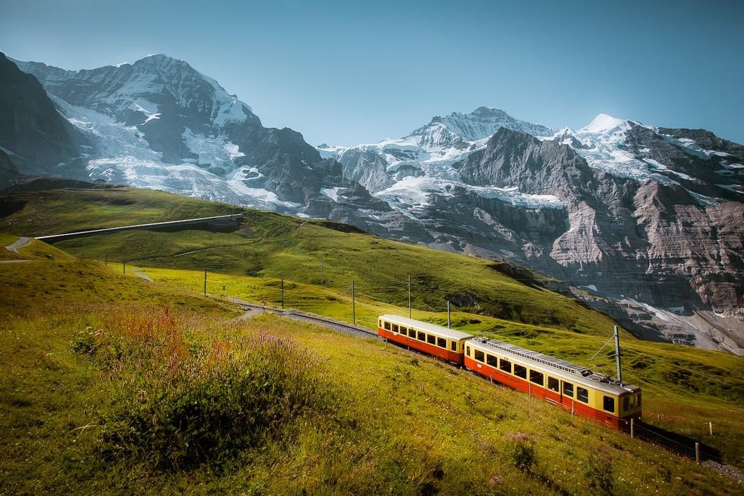 Chemin de fer de la Jungfrau, Suisse. (Instagram/@jakub.polomski)