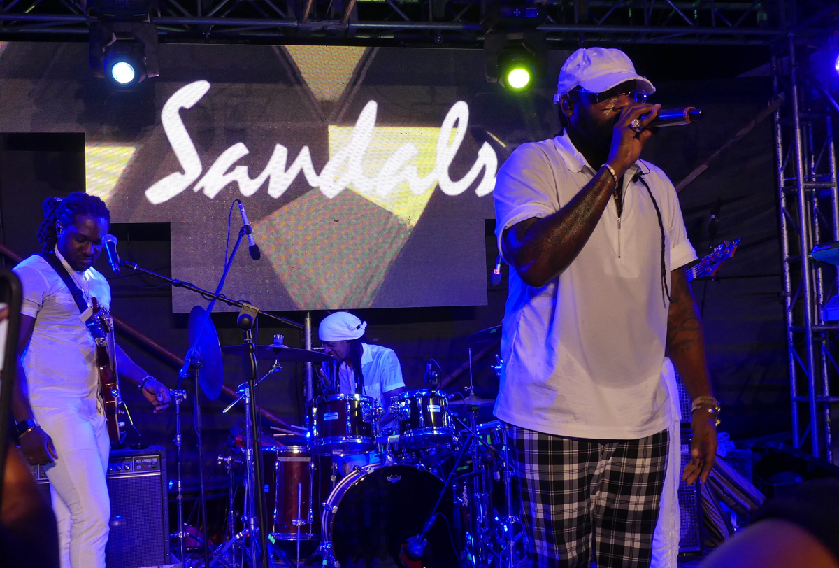Tarrus Riley performs at Sandals Montego Bay during the JAPEX wrap-up.