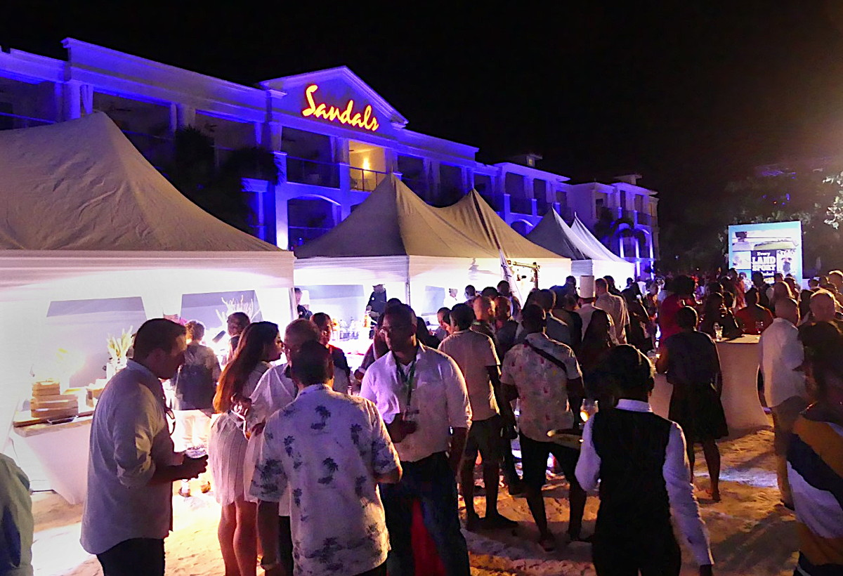 Sandals Montego Bay hosted a wrap-up beach party including a performance by reggae artist Tarrus Riley
