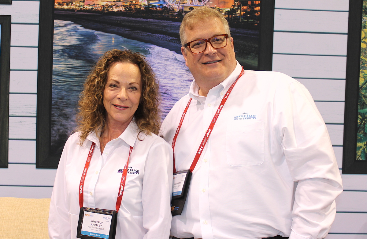 From left: Kimberly Hartley, Canadian account manager & representative for the Myrtle Beach Area Convention and Visitors Bureau; Bob Harris, EVP of sales at Myrtle Beach Area Chamber of Commerce.