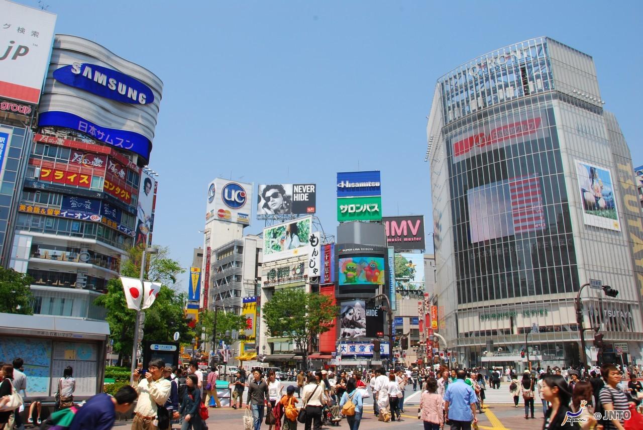 Tokyo's famed scramble intersection at Shibuya (photo credit: © Y.Shimizu/© JNTO)