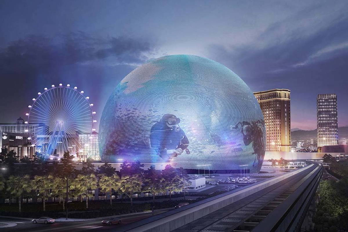The MSG Sphere Las Vegas, currently under construction, will be used for gaming and entertainment. Photo: Madison Square Garden Company