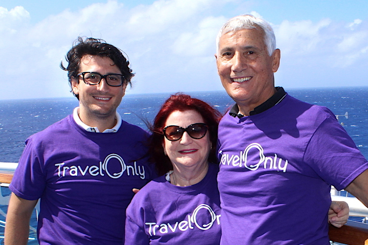TODAY. Gregory, Ann and Patrick Luciani on board the Regal Princess last year at TravelOnly's Symposium at Sea conference.