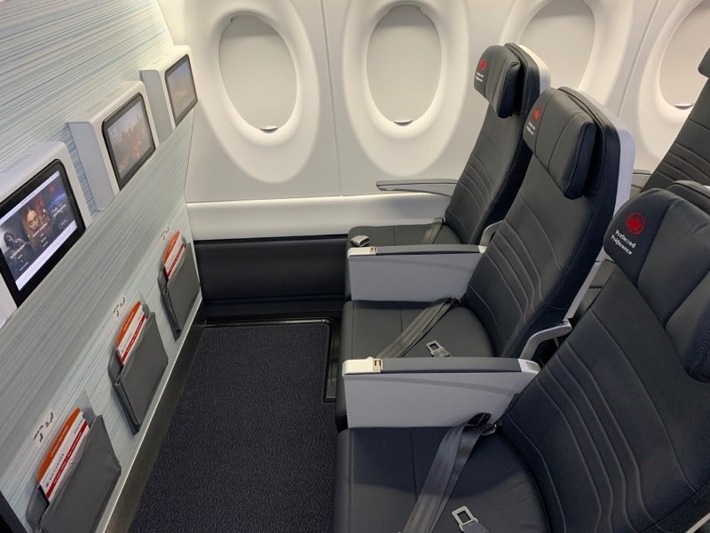 Preferred seating onboard Air Canada's new A220-300.