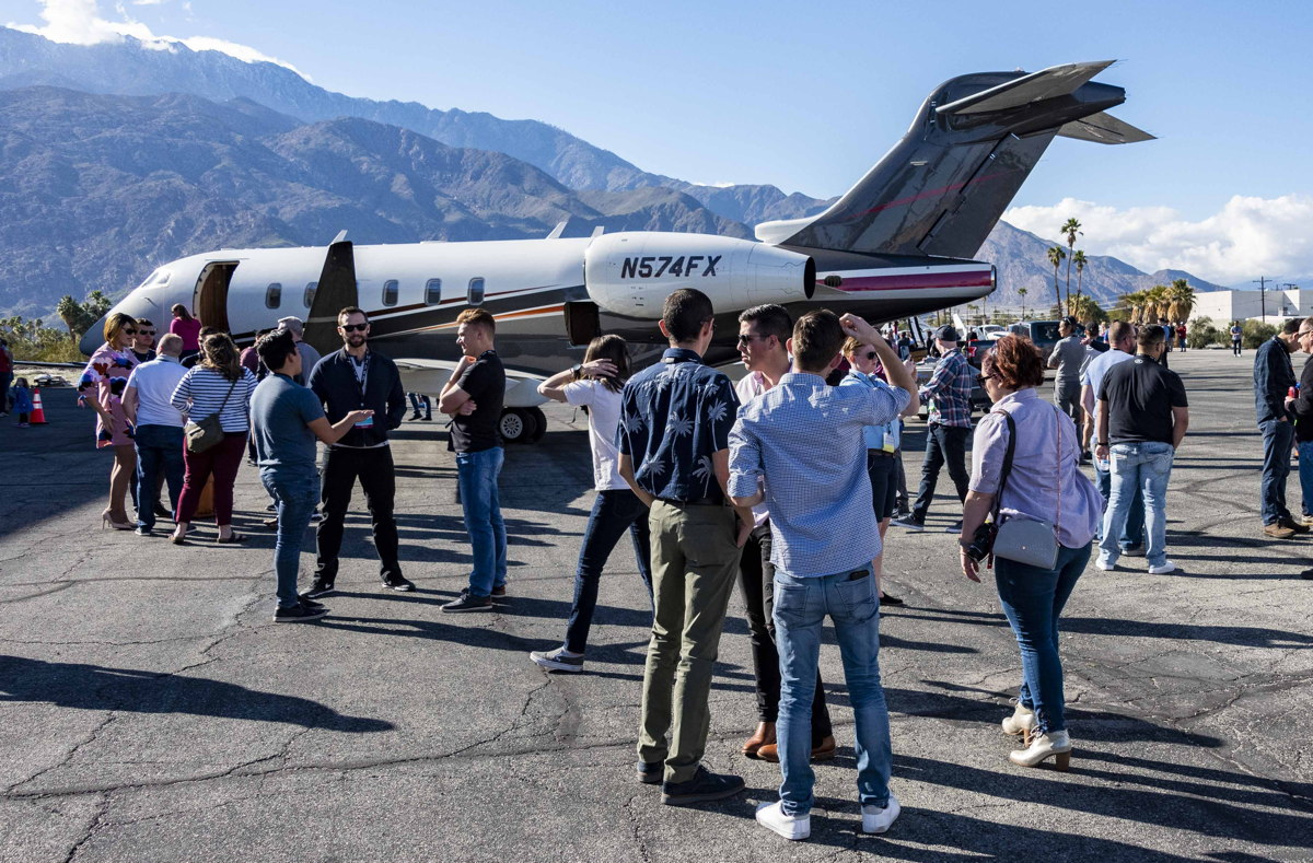 "Crowds gather for the NGPA's ""Queen of the Fleet"" showcase at Palm Springs Airport. Photo courtesy of Dean Sela."