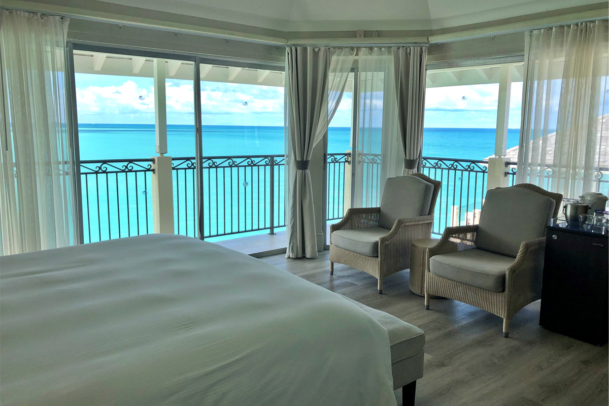 Inside a suite at the Rock Cottage, Blue Waters Resort & Spa.