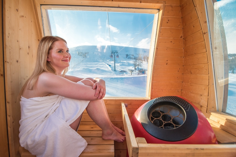 Lapland is home to the world's only sauna gondola! (photo credit: Sport Resort Yllas)