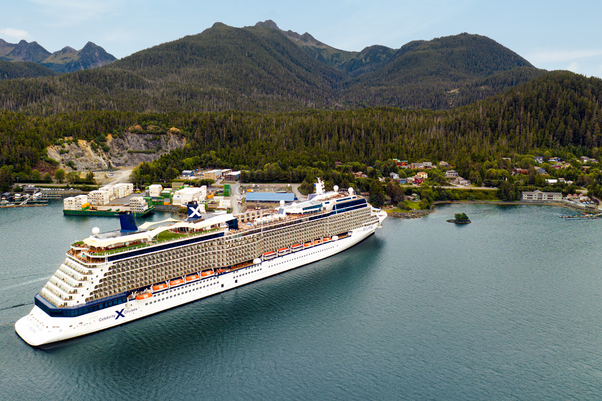 The Celebrity Eclipse in Sitka, Alaska. Photo: Celebrity Cruises