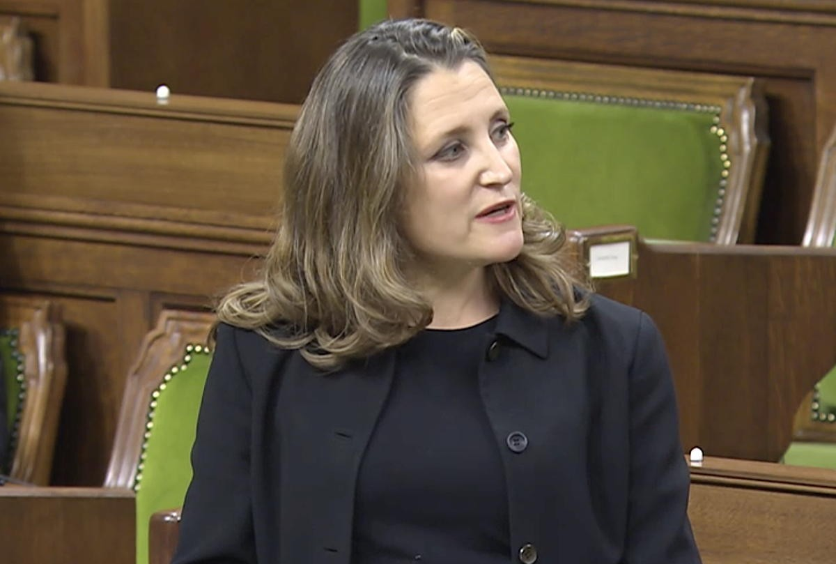 Canada's Deputy Prime Minister and Finance Minister Chrystia Freeland