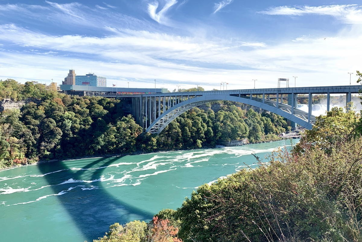 A bridge crossing linking Canada with the United States in Niagara Falls, ON. (Pax Global Media)